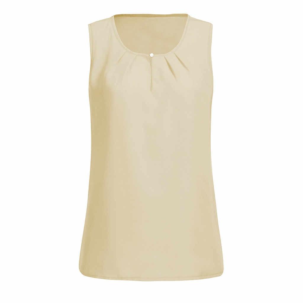 夏固体シフォン女性ファッションブラウスシャツ女性 O ネックのセクシーなストラップ Blusa オフィスカジュアルベストブラウス