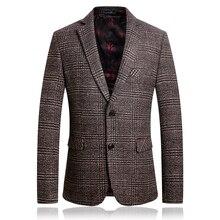 Европейская версия толстого мужского шерстяного пиджака осенью и зимой мужской повседневный пиджак  Лучший
