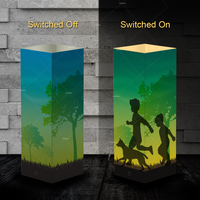 Pet Addiction kids playing with dog Night Light Beside Table shadow Lamp as gifts for dog lovers