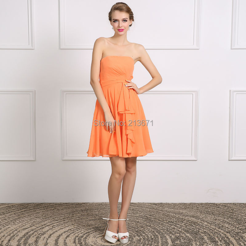Popular Short Orange Homecoming Dresses-Buy Cheap Short Orange ...