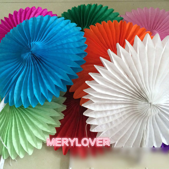 1 Pcs Decorative Crafts 1025CM Origami Paper Fan Flowers Wedding Decoration Home Decorations Birthday Party Kids