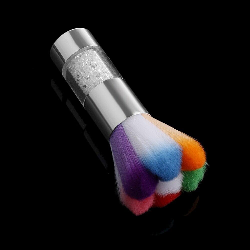 1 Pc Coloridos Cepillos De Polvo De Uñas Acrílico Uv Gel En Polvo Decoración De Uñas Limpiador De Polvo Cepillo Maquillaje Base Toos Beneficioso Para El Esperma
