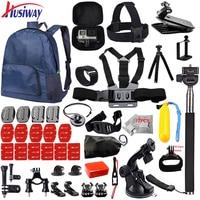 Husiway set Accesorios para todos Gopro hero 5 4 3 estilo kit de montaje para go pro/SJCAM/xiaomi yi cámara/eken h9 trípode 14I