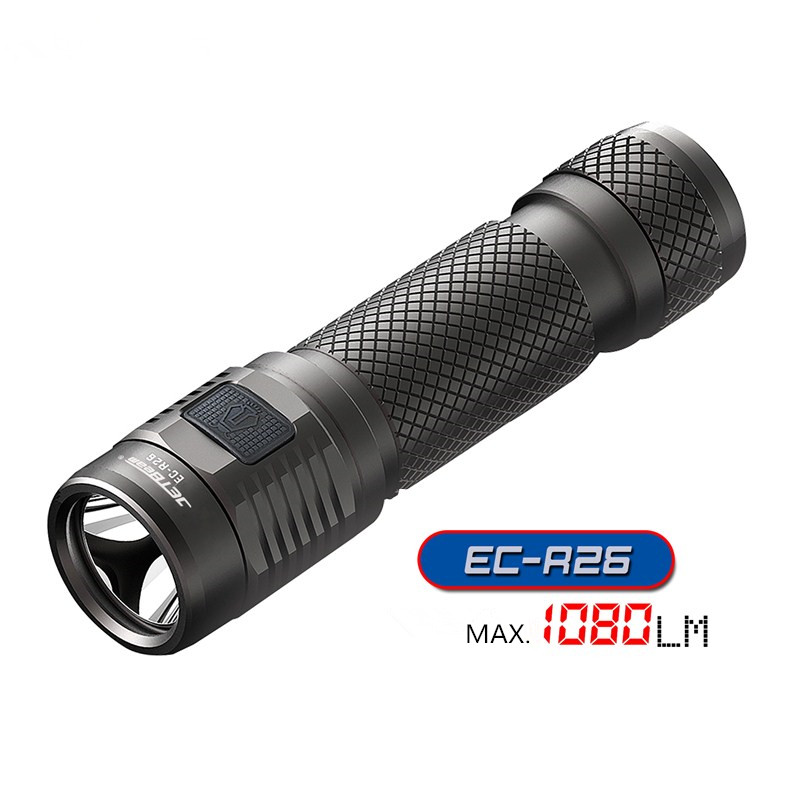 Rechargeable Mini Flashlight JETBeam EC-R26 Cree XP-L max. 1080lumens bean distance 155 meters small size torch with USB cable rechargeable super led cree flashlight jetbeam mini 1