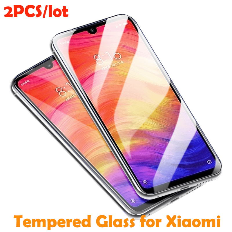 2pcs Tempered Glass For Xiaomi Mi 9 8 Pocophone F1 Mix 2 3 A1 Screen Protector For Xiaomi Redmi Note 7 6 Pro 5 Glass Protective