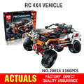 Lepin 20014 Technic Series Ultimate Version The Remote-Control Four-Wheel Drive Off-road Vehicles Blocks Educational Toys 9398
