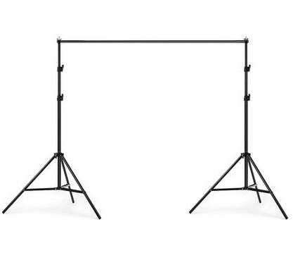 2*2M Photography background Stand Portable Telescopic Background Support Stand Crossbar Kit +Free portable bag+4pcs clips barra de porta