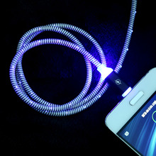 1PC New Hot USB Type-C Glow LED Light Flashing Metal Alloy D