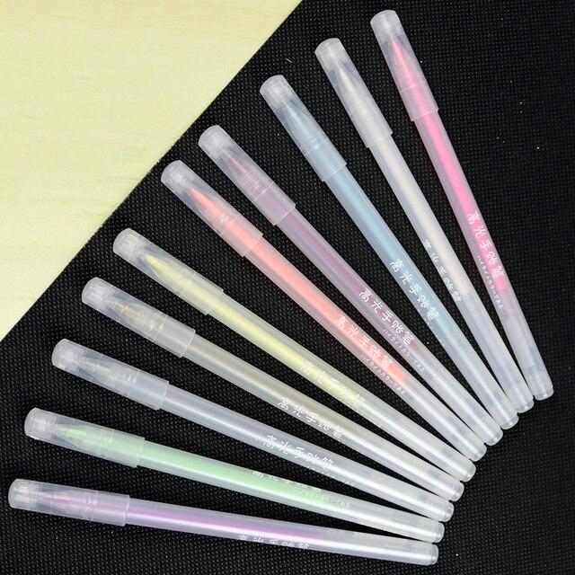 Aliexpress Buy 10colorsset Flash Ballpint Gel Pen Highlight