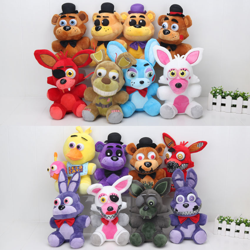 In stock Five Nights At Freddy's 4 FNAF Freddy Fazbear Bear Mangle Foxy bonnie chica Plush Toys Doll 10