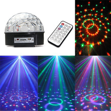 Digital LED RGB Crystal Magic Ball Effect Light for Stage Party Disco DJ Bar Lighting EU/US Adapter AC110V-240V