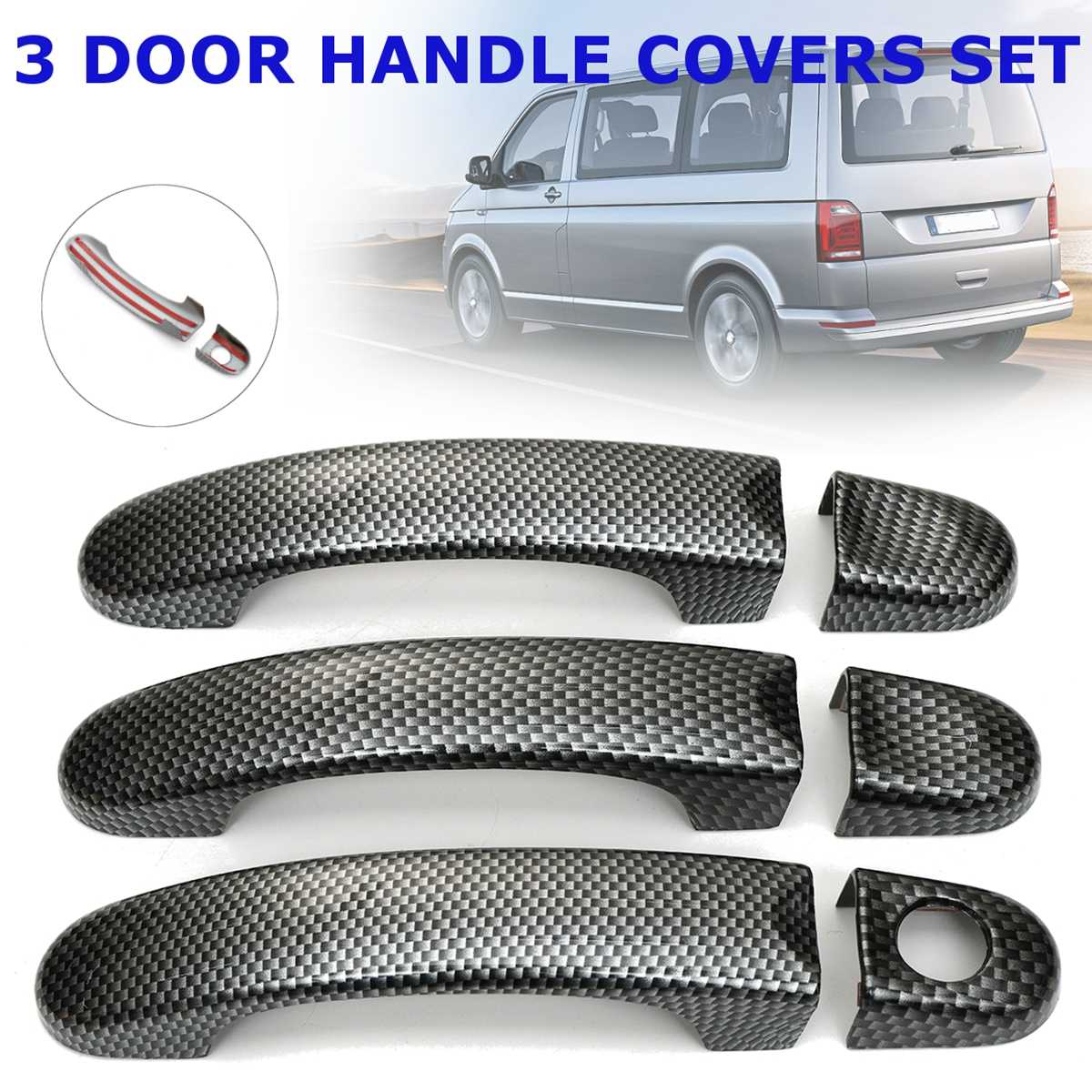 8 Various Style 1 Set Door Handle Covers Trim For VW TRANSPORTER for T5  2003 2004-2015 for T6 2015-up for CADDY VAN 2004-2015