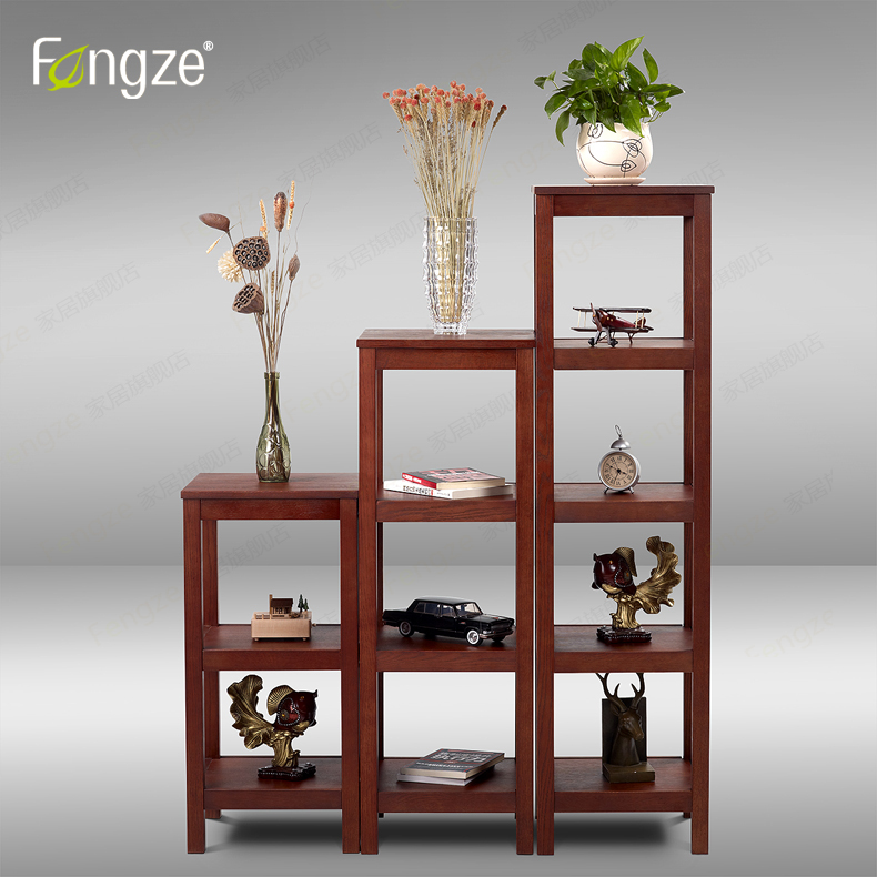FengZe Furnishing FZ611 Modern Solid Wooden Bookcase Storage Multifunction Solid Wood Flower Rack Standing Plants Display Cabine fengze furnishing fz821 modern solid wood shoes storage multifunction solid wood flower rack standing plants display cabine
