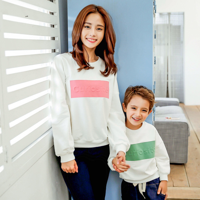 South Korean children autumn new Korean children sweater sweater three-dimensional embossed letters and micro for children