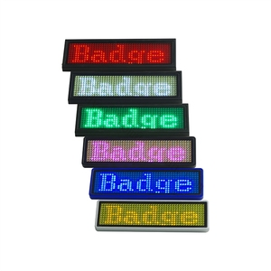 Image 4 - 10pcs 44*11 LED Name Tag Name Badge reusable Price Tag name Tape office  name tags, to Russian Federation