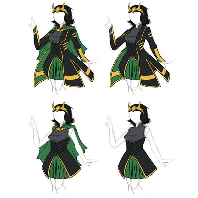 Hero Catcher High Quality Female Loki Cosplay Costume Dress Women Cosplay Costume