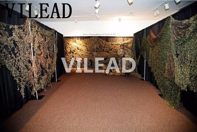 VILEAD 3M x 8M (10FT x 26FT) Digital Military Camouflage Net Woodland Army Camo Netting Sun Shelter for Hunting Camping Tent vilead 5m x 8m 16 5ft x 26ft desert military army camouflage net digital camo netting jungle sun shelter for hunting camping