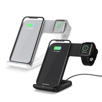 New Design Qi Wireless Charger For iPhone XS Max XR X 8 Fast Wireless Charging Docking Dock Station for apple i watch 1 2 3