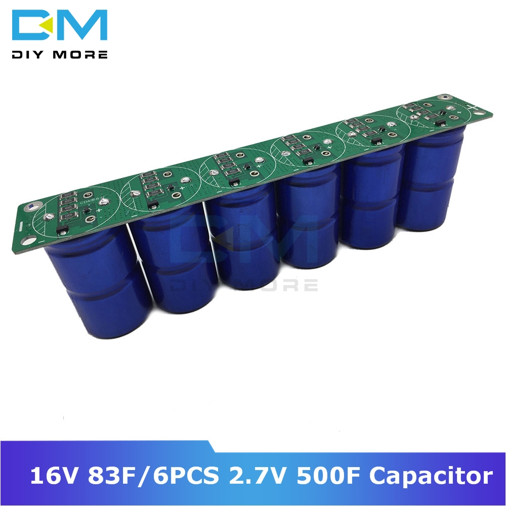 Diymore Super Farad Capacitor 16V 83F Ultracapacitor 6pcs 2.7V 500F Automotive Rectifier With Protection Board Module