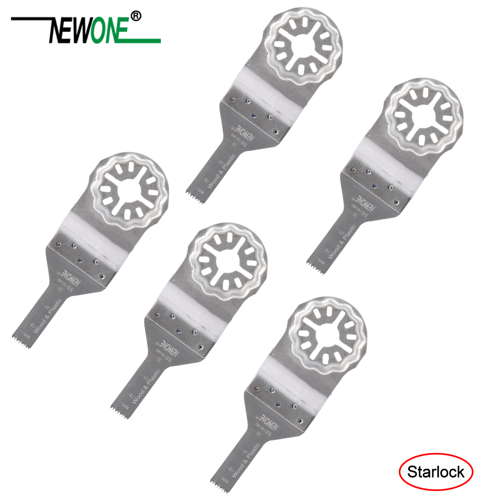 NEWONE 10mm SS Starlock Saw Blades For Starlock System Oscillating Multi-Tools Electric Trimmer Cutting Wood