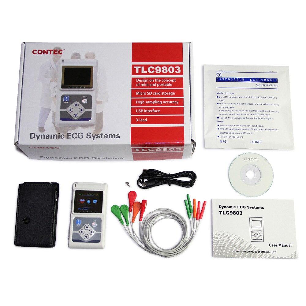 Weihnachten förderung!!! 3 Kanäle Beschreibbare Maschine EKG Holter System überwachung tester Monitor gesundheit pflege TLC9803
