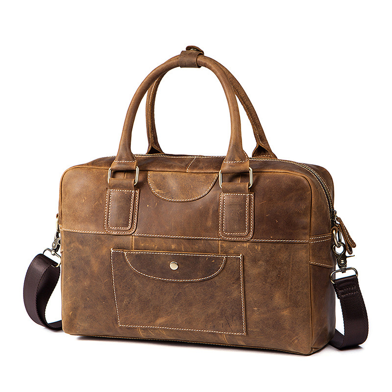 Genuine Leather Men Bag Business Briefcase Messenger Handbags Men's Travel Laptop Bag Men Crossbody Bags Shoulder Tote Bags ograff men shoulder bag men genuine leather handbag design briefcase crossbody messenger bags men leather laptop tote travel bag
