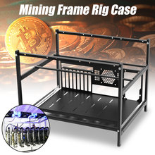 DIY 6GPU Open Air Mining Rig Frame Miner Case Drawer Style Crypto Coin for 4 Fans Computer Mining Case Frame Server Chassis