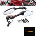 For HONDA VFR 800F Interceptor 2014-2015 Motorcycle Accessories Adjustable LED Turn Signal Light Rear View Mirror