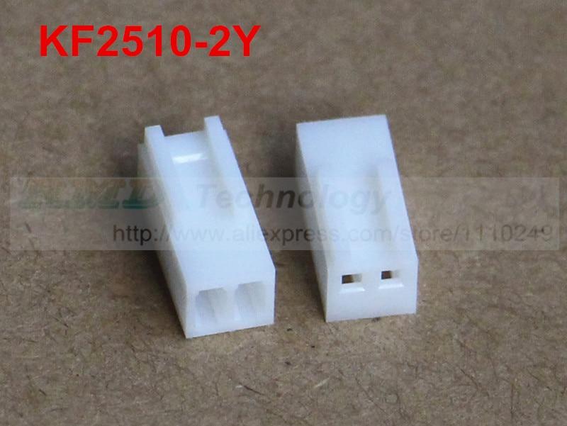 50pcs/lot KF2510 KF2510-2Y Female connector housing 2.54mm 2pin free shipping 50pcs lot kf2510 kf2510 3aw male