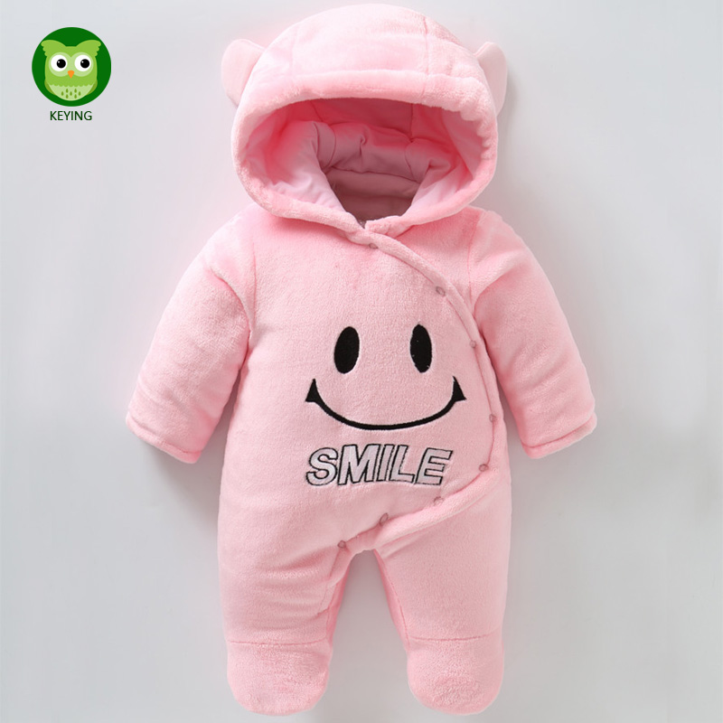 KEYING Baby Romper Cotton Padded Newborn Cartoon Animal Hooded Unisex Toddler Boy Girl Clothes 2017 New Autumn Winter iyeal newborn winter clothes cotton padded baby clothing long sleeve hooded animal baby girl boy romper cartoon warm jumpsuit