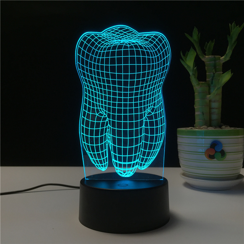 Teeth Shape 3D LED Lamp Night Light for Chilren Illusion Atmosphere Sleep Table Lamp Touch Colors Changing Light Novelty GiftTeeth Shape 3D LED Lamp Night Light for Chilren Illusion Atmosphere Sleep Table Lamp Touch Colors Changing Light Novelty Gift