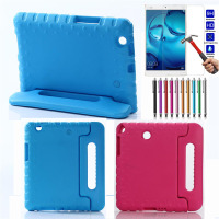 For Huawei Mediapad M3 8 4 Inch Shockproof Silicone Case Free 9H Screen Protector Stand Tablet