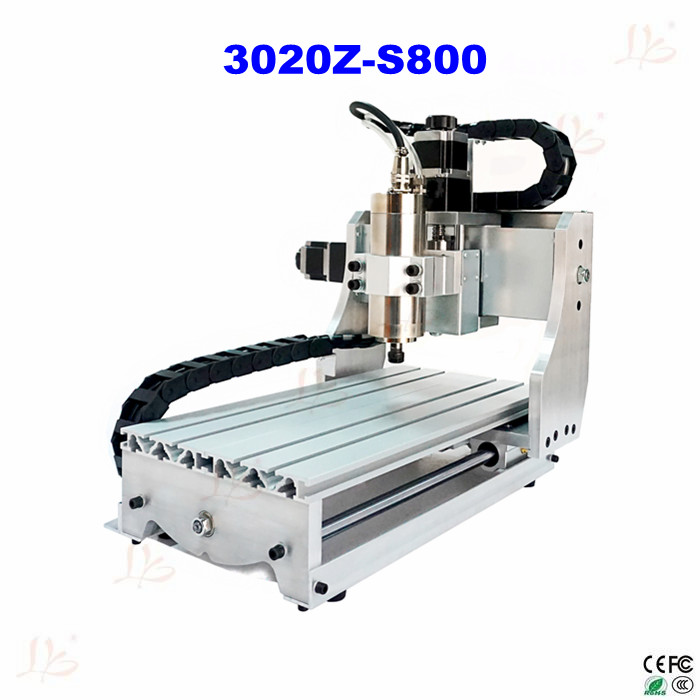 Russia free tax 3020Z-S800 cnc router with 800W spindle, mini cnc engraving machine for metal wood mr grill heat resistant oven
