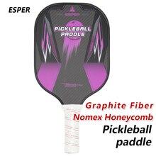 Эспер фиолетовый Pickleball Весло Графит углеродного волокна 3 К тканые лицо Nomex вафельная Легкий Мощный для профессиональных