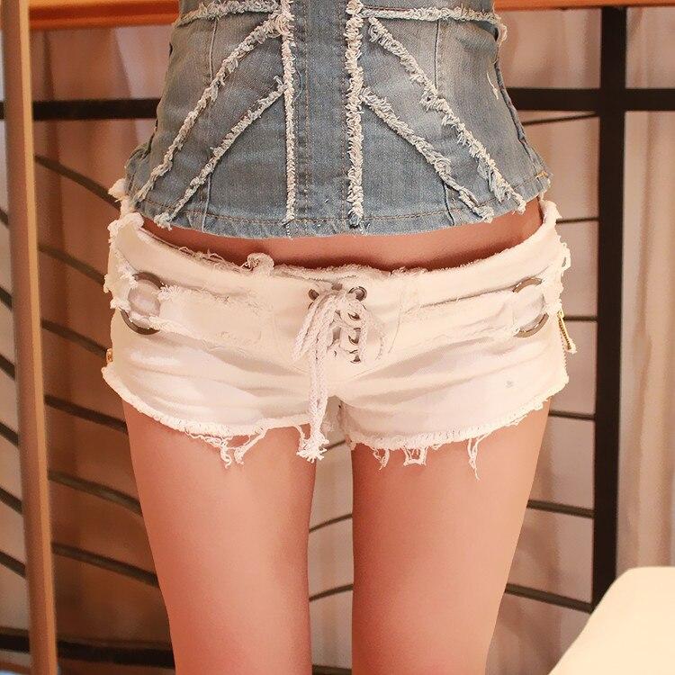Ordentlich Qa1081 Top Verkauf Mädchen Mini Super Kurze Jeans Femmekorean Stil Schwarz White Slim Drawtring Frauen Shorts Gepäck & Taschen