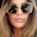 2017 new fashion women estilo diseñador de la marca de gafas de sol de verano polígono gran marco de la vendimia mujer de conducción gafas gafas de sol