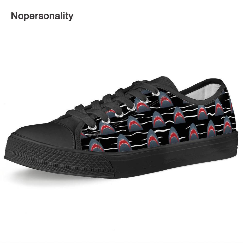 Nopersonalité bas Top Animal requin impression chaussures en toile Cool respirant vulcaniser chaussures personnalisées printemps baskets
