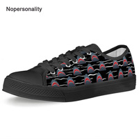 Nopersonality Low Top Animal Shark Print Canvas Shoes Cool Breathable Men Vulcanize Shoes Personalized Spring Sneakers