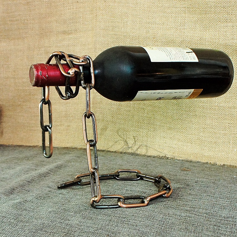 Magic Rope Wine Bottle Stand Rack Suspension Novelty Holder Bar Accessories Table Decoration Tableware Barware Gift