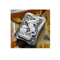 Silicone Mold Horse Guest Soap Molds Handmade Chinese Wealth Hourse With Coin Soaps Mould S5126