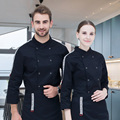 New Kitchen Chef Jacket Uniforms Full Sleeve Cook Clothes Food Services Hotel Restaurant Kitchen Frock Coats Work Wear