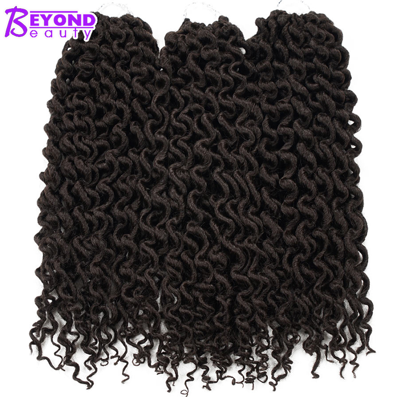Beyond Beauty Goddess Locs Crochet Hair Extensions Kanekalon Fiber Crochet Braids Synthetic Baiding Bulk Hair Black Brown 16inch