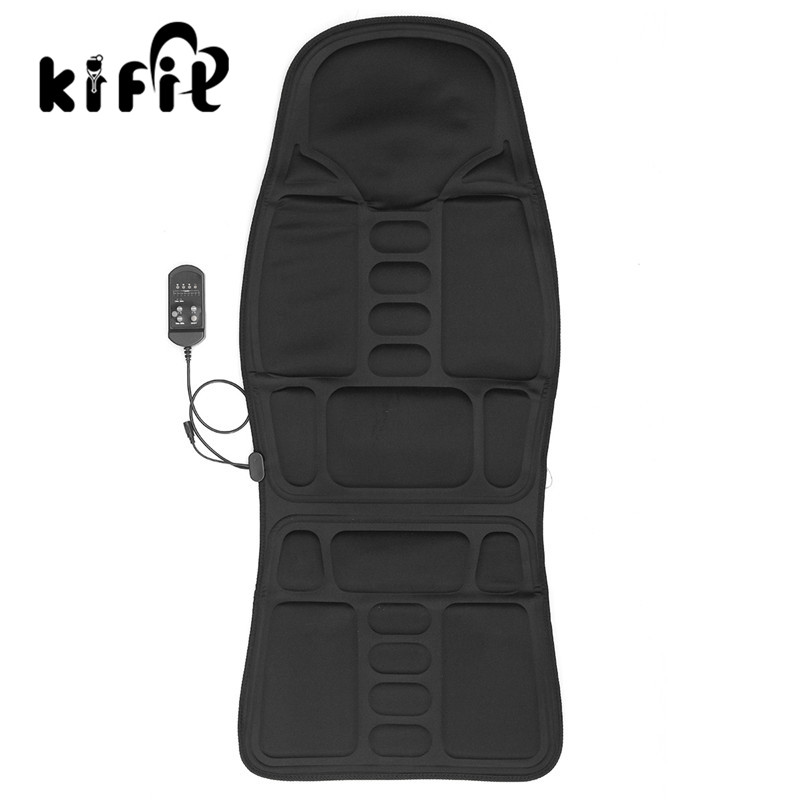 KIFIT Practical Multifunctional Car Chair Body Massage Heat Mat Seat Cover Cushion Neck Pain Lumbar Support Pad Back Massager new car seat office chair massage back lumbar support mesh ventilate cushion pad black high big size