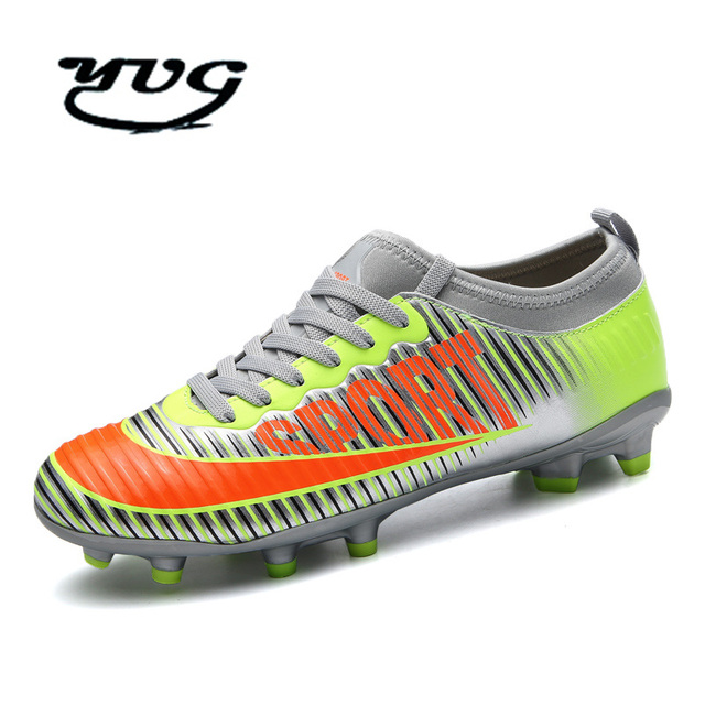 8f66aa54e Adult Indoor Football Shoes 2017 Kids Futsal Shoes for Sock Football Boots  Boys Soccer Cleats Shoes Man Sneakers Free Shipping