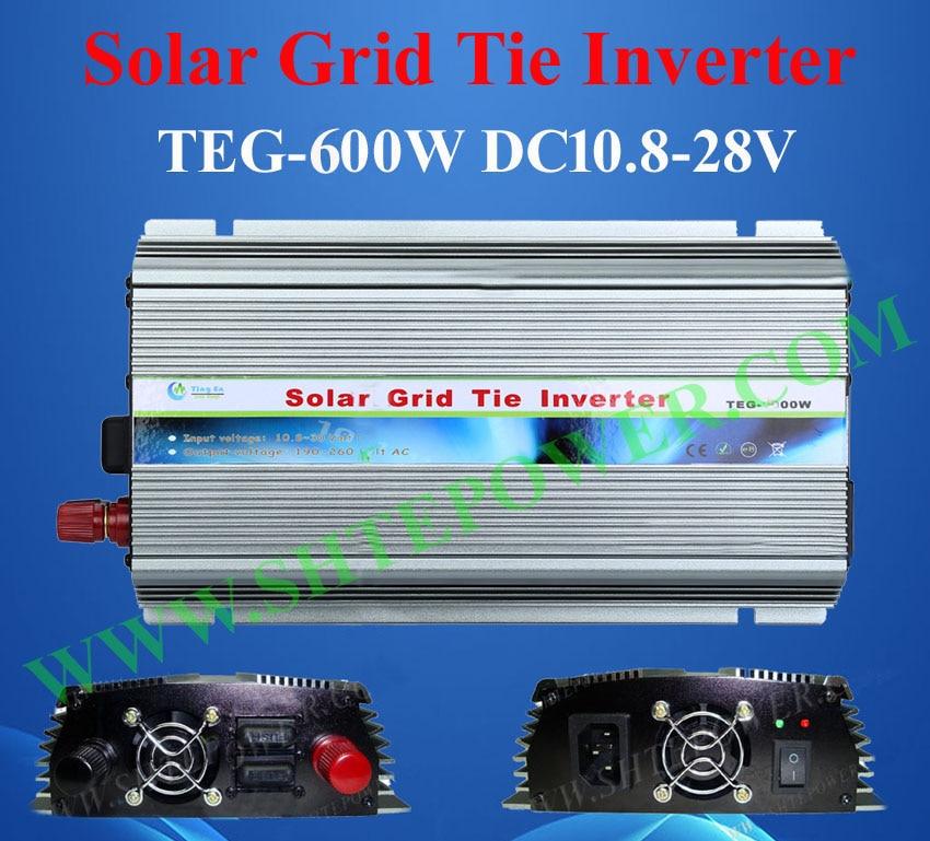 цена на Free shipping 600w Grid Tie Solar Inverters DC 10.8v~28v to AC 230v