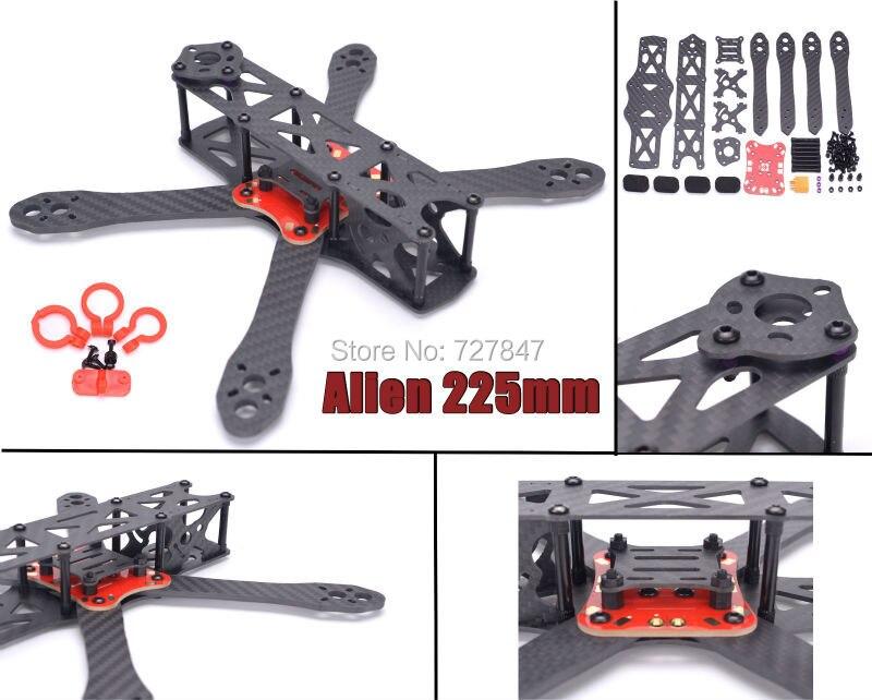 Alien FPV quadcopter pure carbon Fiber 225 225mm DIY cross racing mini font b drone b