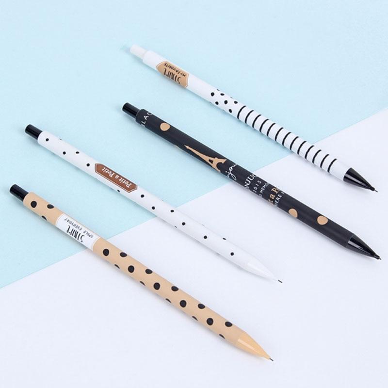 1 Pcs Cute Kawaii Stripe 0.5mm Mechanical Pencils Writing School Office Supplies Accessory Stationery