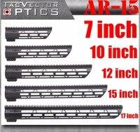 טקטי AR-15 M4 M-LOK MLOK 7 10 12 15 17 inch Slim Handguard Picatinny רכבת הר Bracket התאמה. 223 5.56 AR15 M16