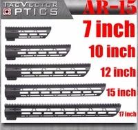 Tactical AR 15 M4 M LOK MLOK 7 10 12 15 17 inch Slim Free Float Handguard Picatinny Rail Mount Bracket fit .223 5.56 AR15 M16