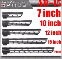 Tactical AR 15 M4 M LOK KeyMod 7 10 12 15 17 Inch Slim Free Float